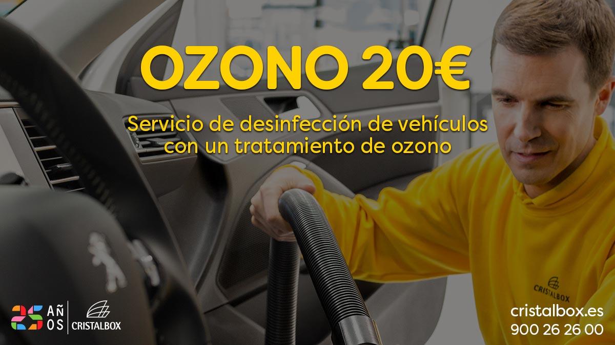 promoción tratamiento ozono 20€ para vehículo cristalbox