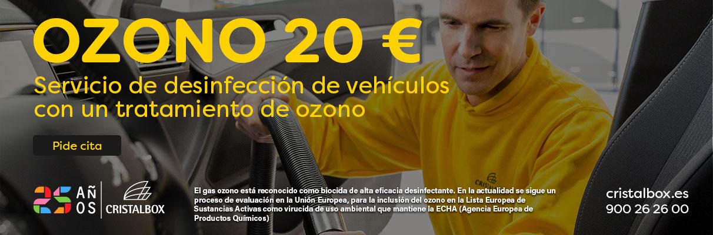 Desinfección de vehículos con tratamiento de ozono