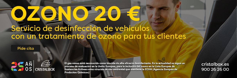 Desinfección de vehículos con tratamiento de ozono para tus clientes